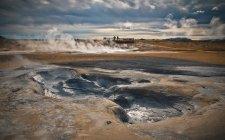 Islanda, area geotermica Hveraroend, fango — Foto stock