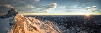 Austria, Salzkammergut, Koppenkarstein at sunset — Stock Photo