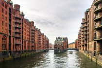 Germania, Amburgo, Speicherstadt, castello acquatico — Foto stock