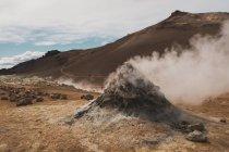 Islande, champ de Hverarond pendant la journée — Photo de stock