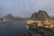 Norvegia, Lofoten, città di giorno — Foto stock