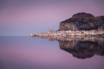 Italy, Sicily, Cefalu with reflections in the evening, afterglow — Stock Photo