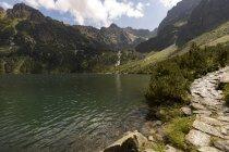 Pologne, Hautes Tatras, Tatra, Parc National des Tatras, Morskie Oko — Photo de stock