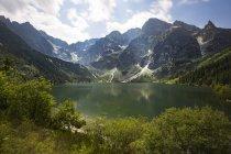 Pologne, Hautes Tatras, Tatra, Parc National des Tatras, Morskie Oko et Rysy — Photo de stock