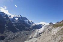 Österreich, Kärnten, Hochtauern-Nationalpark, Großglocknergipfel, Pasterze-Gletscher und Johannisberg — Stockfoto