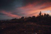 Canada, Colombie-Britannique, Skeena-Queen Charlotte A, Mount Hays, Prince Rupert, île Kaien, van à afterglow — Photo de stock