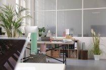 Interior de um escritório de sótão de negócios — Fotografia de Stock