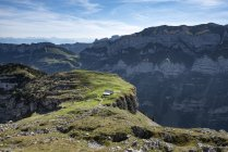 Switzerland, Appenzell, Alp Chlus on Zisler mountain in the Appenzell Alps — Stock Photo