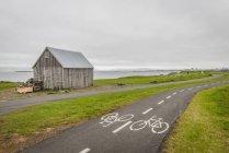 Ісландія, Рейк'явік, хатина для сушіння риб — стокове фото