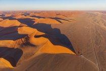 Africa, Namibia, Namib desert, Namib-Naukluft National Park, Aerial view of desert dune 45 — Stock Photo