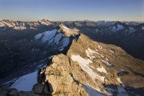 Autriche, Tyrol, Alpes Zillertal, Vue depuis Reichenspitze, Montagnes glaciaires, Wildgerlostal, Parc national du Haut Tauern — Photo de stock