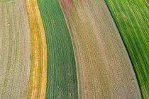 Германия, Рюссельберг, Ремс-Мурр-Рюссельбург, Вид полей с воздуха — стоковое фото