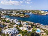 Spain, Mallorca, Portocolom, Aerial view of Cala d'Or and bay Cala Ferrera — Stock Photo