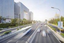 China, Peking, Verkehr auf der Straße — Stockfoto