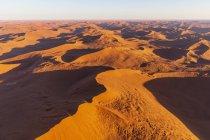 Africa, Namibia, Namib desert, Namib-Naukluft National Park, Aerial view of desert dunes — Stock Photo