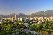 Албанія, тирана, центр міста, вежа і башта — стокове фото