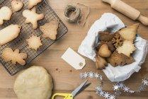 Divers biscuits maison de pain d'épice — Photo de stock