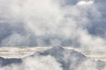 USA, Alaska, Denali National Park, mountains in fog — Stock Photo