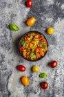 Bowl of tomato basil dip — Stock Photo