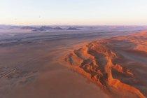 Africa, Namibia, Namib desert, Namib-Naukluft National Park, Aerial view of desert dunes, air balloons — Stock Photo