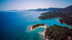Croazia, Cres, Mare Adriatico, Vista aerea — Foto stock