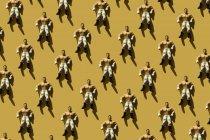 3D Rendering, homem forte com calças wrestler coração verde, repetição — Fotografia de Stock