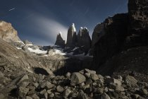 Chile, Patagonie, Nationalpark Torres del Paine at night — Stock Photo