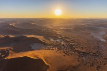 Africa, Namibia, Namib desert, Namib-Naukluft National Park, Aerial view of desert dunes, Nara Vlei, Sossusvlei and 'Big Mama' — Stock Photo
