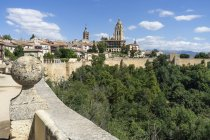 Іспанія, Кастилія і Леон, Сеговія, міський пейзаж з собором, вид з Алькасар — стокове фото