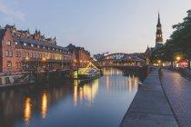 Alemania, Hamburgo, Zollkanal, Sala Filarmónica del Elba y - foto de stock