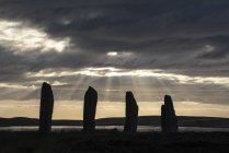 Great Britain, Scotland, Orkney, Mainland, Ring of Brodgar, neolithic stone circle — Stock Photo
