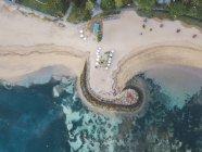 Indonesia, Bali, Vista aérea de la playa de Nusa Dua - foto de stock