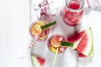 Glasses of Melon Margarita with watermelon juice — Stock Photo