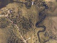 Finlandia, Kolari, Vista aérea de Varkaankari - foto de stock