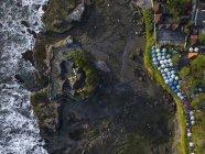 Indonesia, Bali, Veduta aerea del ristorante al tempio Tanah Lot — Foto stock