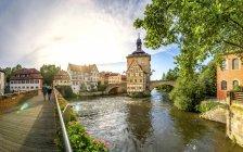 Німеччина, Баварія, Бамберг, Старе місто, Староміська ратуша — стокове фото