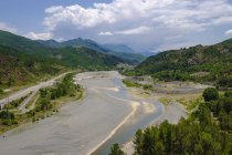 Albania, Lezhe County, near Rubik, Fan river — Stock Photo