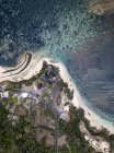 Indonesia, Bali, Aerial view of Nusa Dua beach, Temple from above — Stock Photo