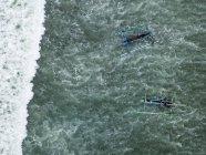 Indonesia, Bali, Vista aérea de los barcos tradicionales - foto de stock