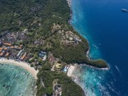 Indonesia, Bali, Aerial view of Blue Lagoon beach — Stock Photo