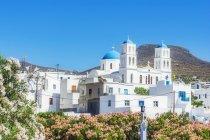 Греция, Аморгос, церковь в дневное время — стоковое фото