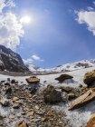 Italia, Lombardia, cresta del Cevedale Vioz, tavole dei ghiacciai sul ghiacciaio Forni — Foto stock
