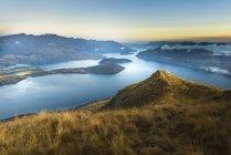 Nouvelle-Zélande, Île du Sud, Wanaka, Otago, Coromandel pic au lever du soleil — Photo de stock