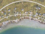 Noruega, Vista aérea de Senja - foto de stock