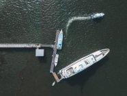 Indonesia, Bali, Veduta aerea di yacht di lusso — Foto stock