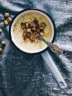 Крем овочевий суп з грінками — стокове фото