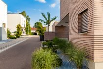 Germany, Esslingen-Zell, development area with passive houses — Stock Photo