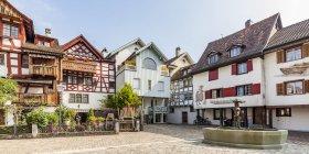 Швейцарія, Тургау, Арбон, Старе місто, рибний ринок, історичні будинки — стокове фото