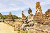 Thailand, Ayutthaya, ruins of Wat Mahathat — Foto stock