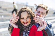 Russia, Mosca, coppia incontri e divertirsi — Foto stock